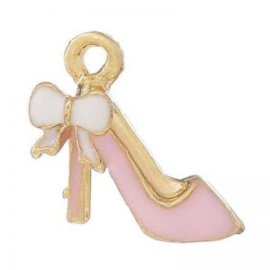 Pink Gold Plated Enamel High Heel Charm