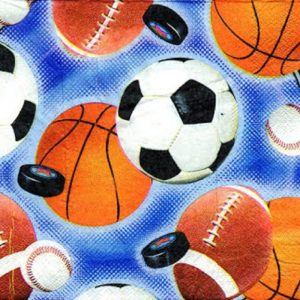 Football Decoupage Napkin