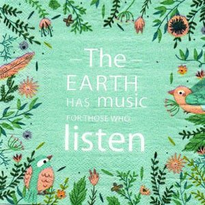 Earth Music Decoupage Napkin