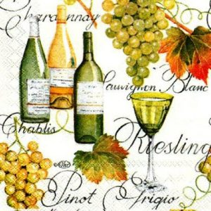 Wine With Green Grapes Decoupage Napkin