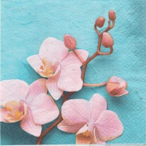 Rose Orchid Decoupage Napkin