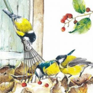 Yellow And Blue Colour Bird Decoupage Napkin