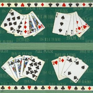 Playing Cards Decoupage Napkin