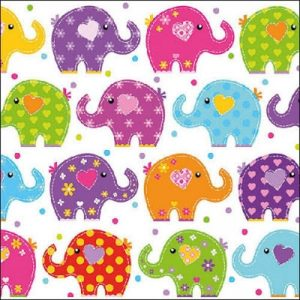 Elephants Decoupage Napkin
