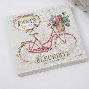 Cycle Decoupage Napkin