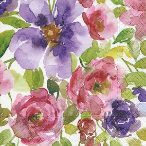 Watercolour Garden Decoupage Napkin