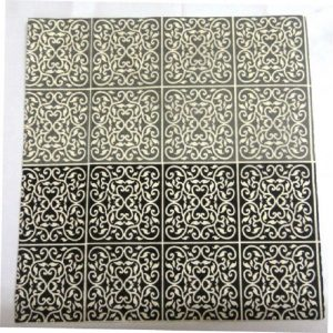 Black And White Floral Print Decoupage Napkin