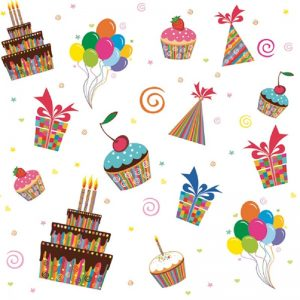 Birthday Party Celebration Decoupage Napkin
