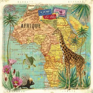 The Africa Decoupage Napkin