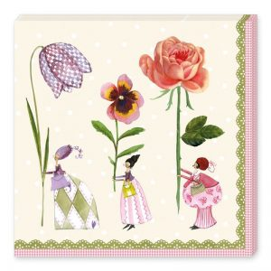 Three Flower Fairies Decoupage Napkin