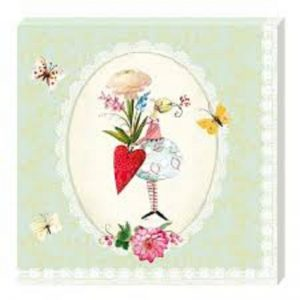 Flower Fairy Decoupage Napkin