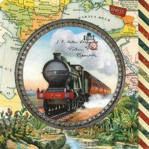 Train Travel Decoupage Napkin