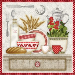 Kitchen Theme Decoupage Napkin