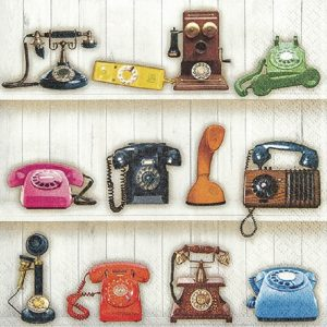 Telephone Decoupage Napkin