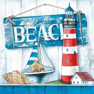 The Beach Decoupage Napkin