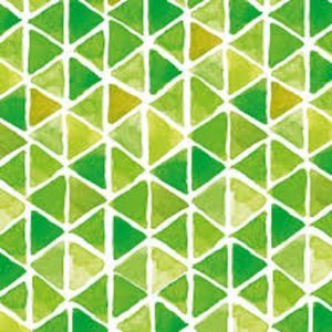 Greenery Triangle Decoupage Napkin