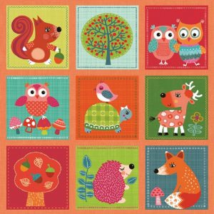 Baby Animals Decoupage Napkin