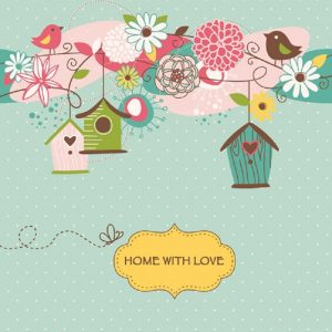 Home With Love Decoupage Napkin
