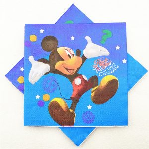 Rock Star Mickey Mouse Decoupage Napkin