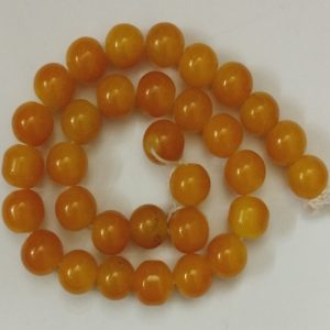 Double Shade Mustard Yellow Round Glass Beads