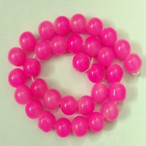 Double Shade Pink Round Glass Beads