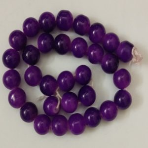 Double Shade Purple Round Glass Beads