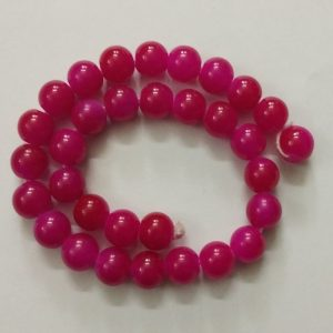 Double Shade Dark Pink Round Glass Beads
