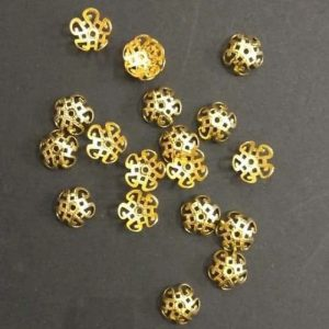 Gold Flower Bead Cap