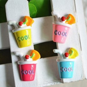 Cool Fruit Juice Cup Resin Embellishment