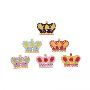 Crown Wooden Buttons