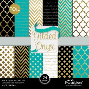 Papericious Designer Edition Gilded Onyx Paper Pack