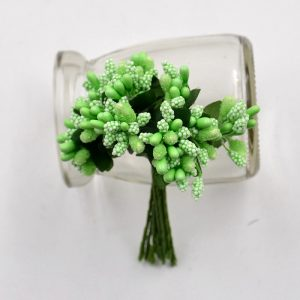Green Artificial Berry Stamen Bunch