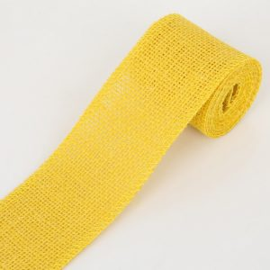 Yellow Jute or Burlap Ribbon