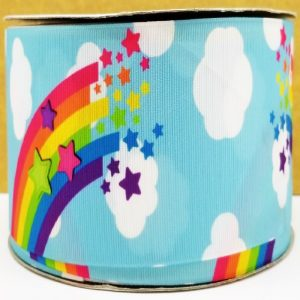 Rainbows And Clouds Grosgrain Ribbon