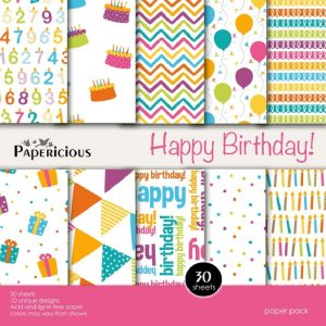 Papericious Designer Edition Happy Birthday Paper Pack