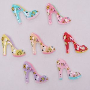 Buttefly Heel Shoes Resin Embellishment