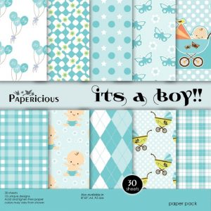 Papericious Designer Edition It's A Boy Paper Pack