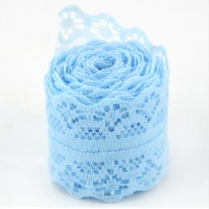 Sky Blue Lace Trim