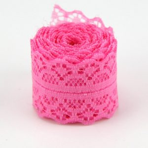Pink Lace Trim