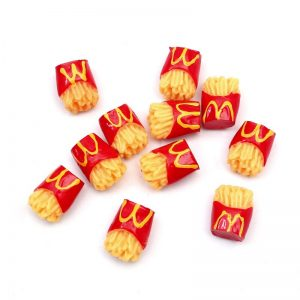 Miniature Potato Fries Resin Embellishment