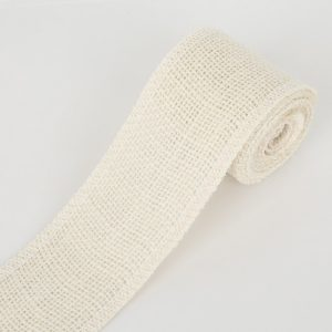 Off White Jute or Burlap Ribbon