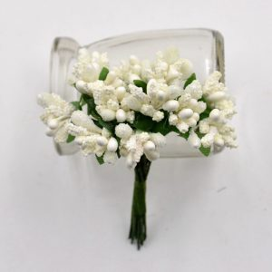Off White Artificial Berry Stamen Bunch