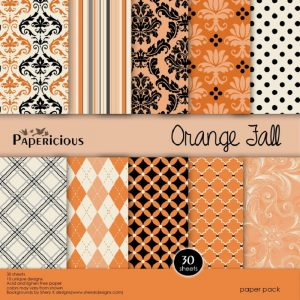 Papericious Designer Edition Orange Fall Paper Pack