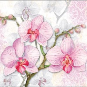 Pink Orchid Decoupage Napkin