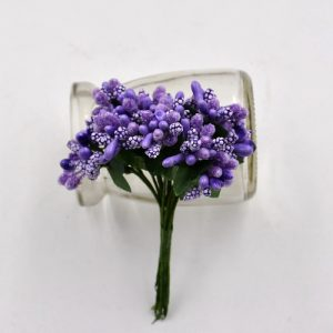 Purple Artificial Berry Stamen Bunch
