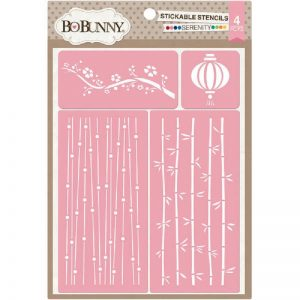 BoBunny Essentials Stickable Stencils - Serenity