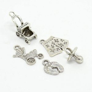 Silver Alloy Baby Theme Set
