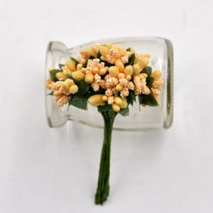 Yellow Artificial Berry Stamen Bunch