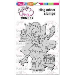 Pink Your Life Cling Stamp - Whisper Friends - Pirate Girl