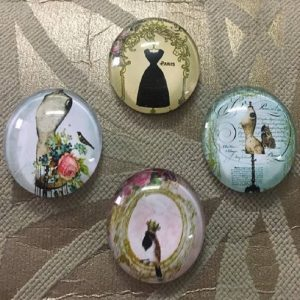 Haute Couture Theme Glass Cabochons